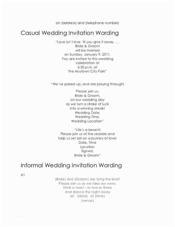 Facebook Wedding Invitation Wedding Invitation Wording Samples