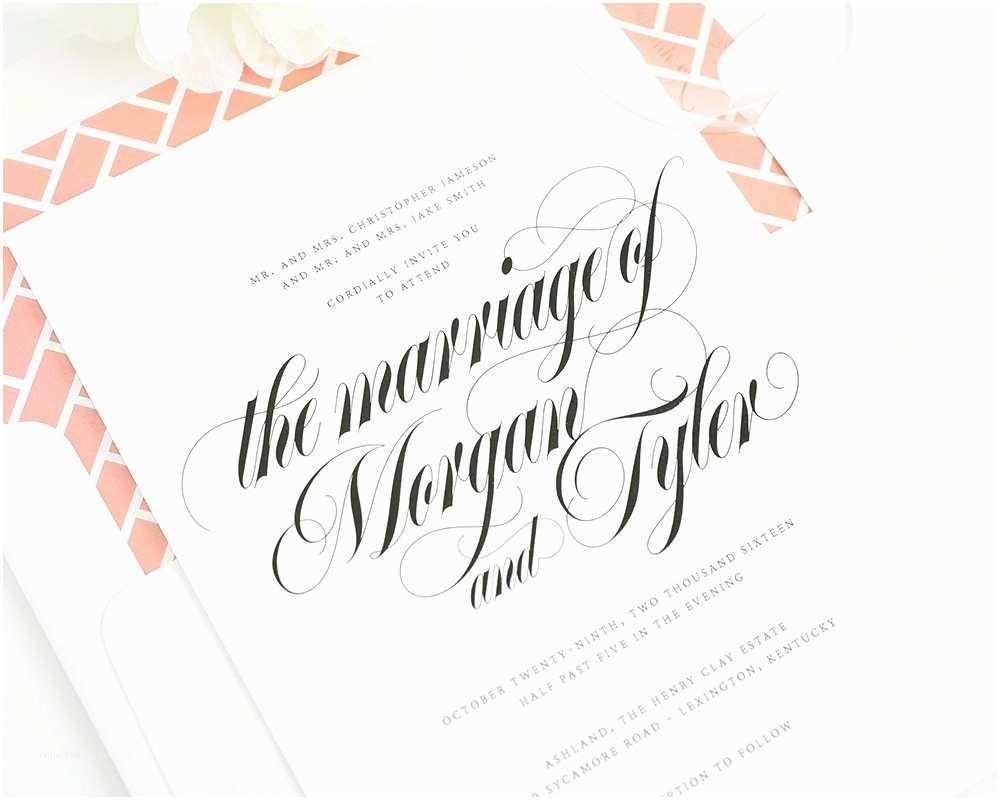Facebook Wedding Invitation Wedding Invitations with Gorgeous Calligraphy – Wedding