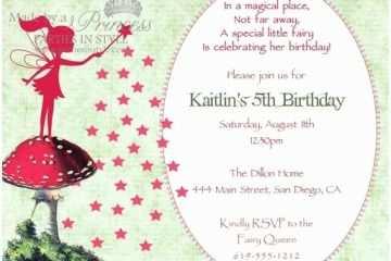 Fairy Birthday Invitations 40th Ideas
