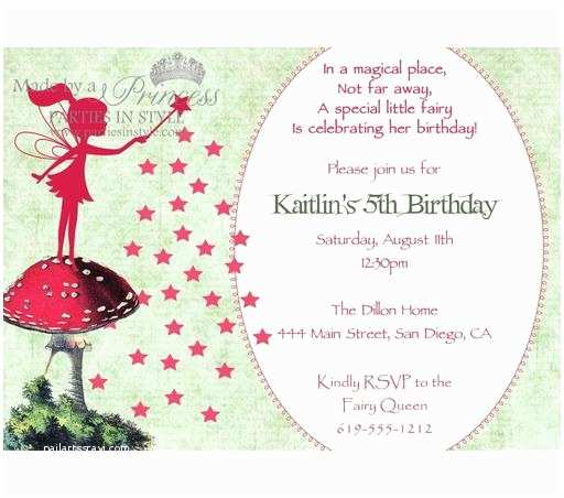 Fairy Birthday Invitations 40th Ideas Invitation Templates Free