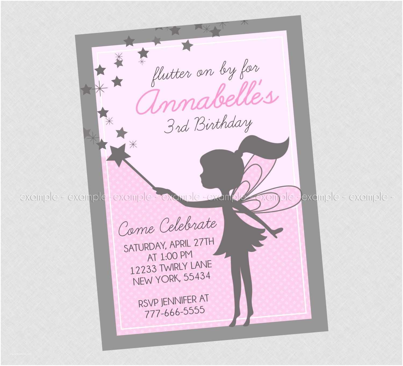 Fairy Birthday Invitations Briana On Etsy