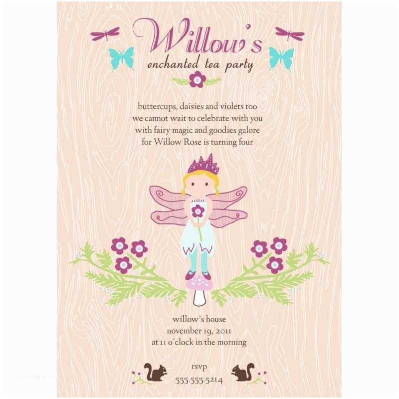 Fairy Birthday S Enchanted Fairy Tea Party Printable