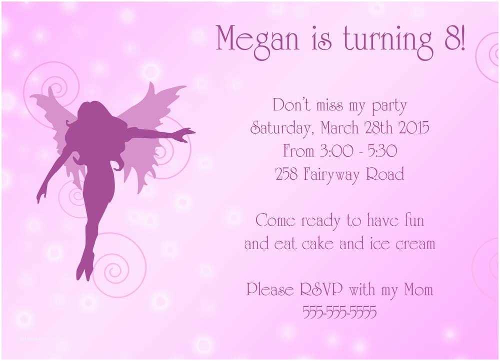 Fairy Birthday Invitations Fairy Birthday Invitations –