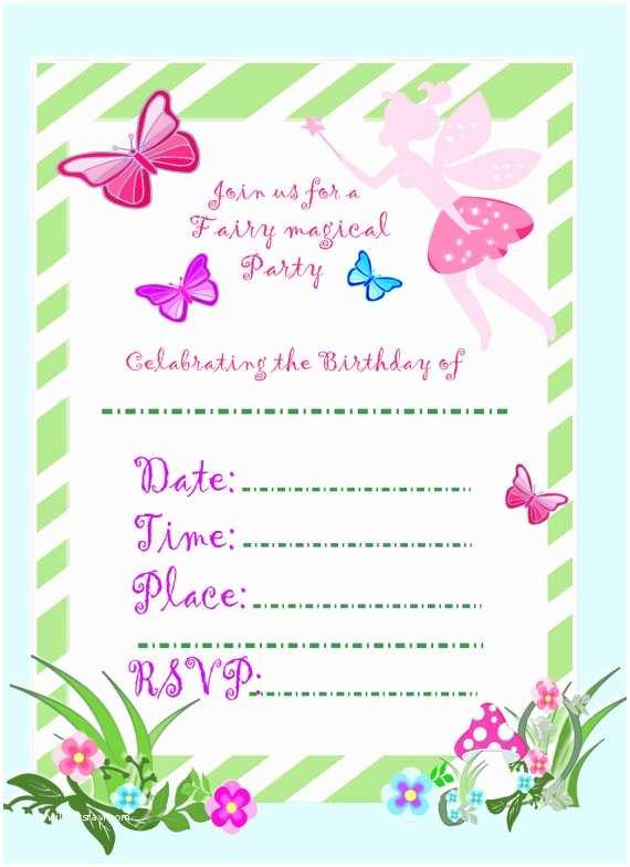 Fairy Birthday  Fairy Invitation Fairy Party Diy Birthday
