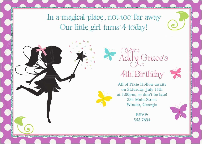 Fairy Birthday Invitations Fairy Invitation Pixie Invite Digital File