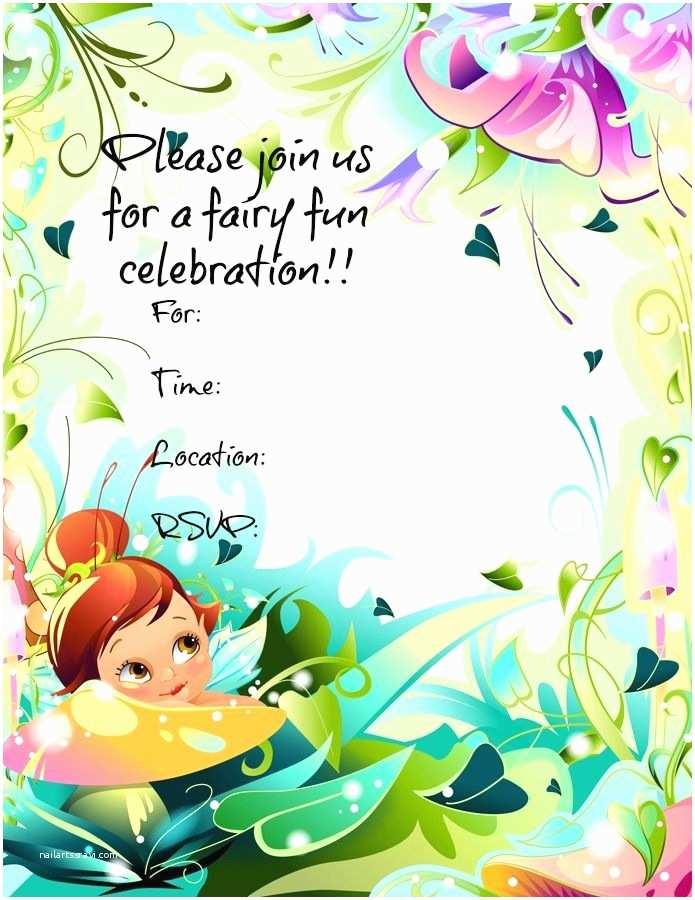 Fairy Birthday Invitations Free Printable Fairy Invitations Freeprintables