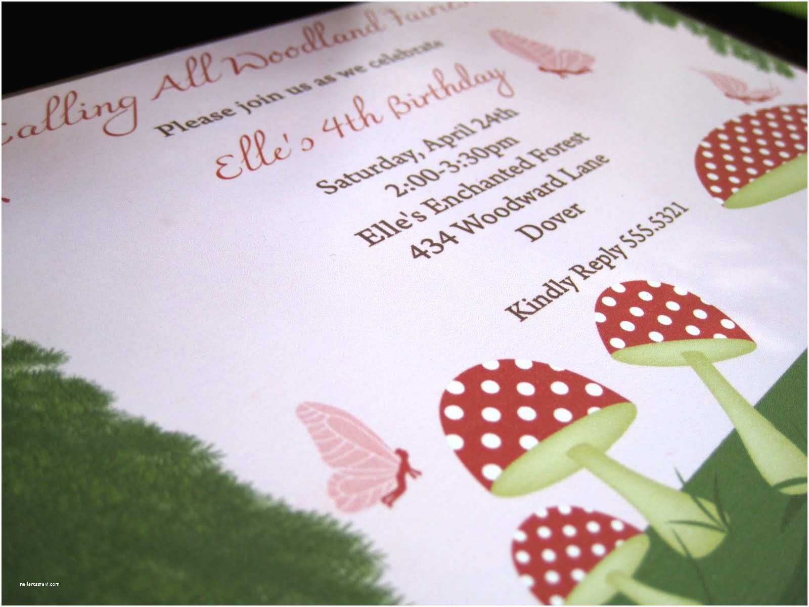 Fairy Birthday Invitations Kate Landers events Llc Woodland Fairy Birthday Party