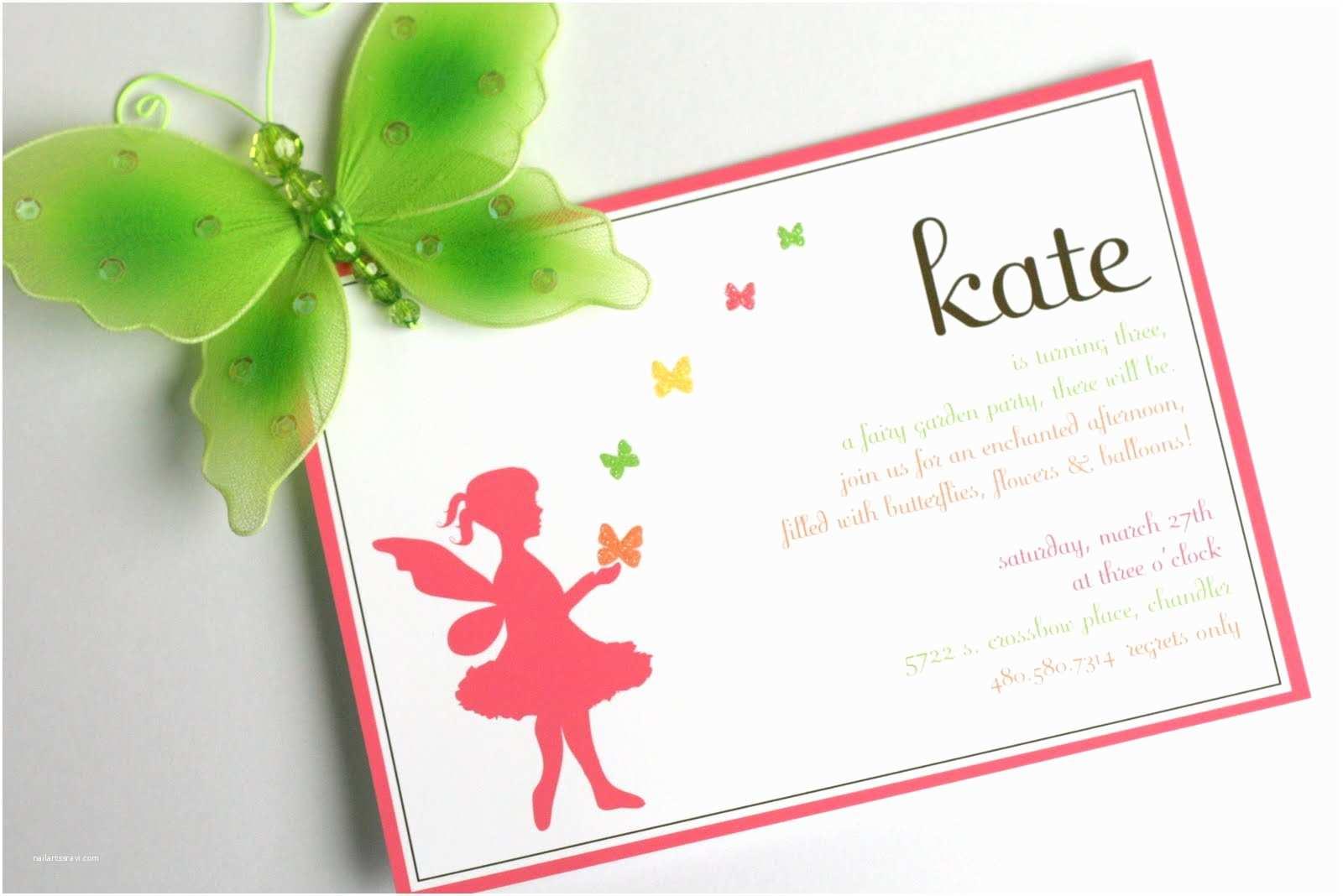 Fairy Birthday Invitations Kate S Garden Party The Tomkat Studio