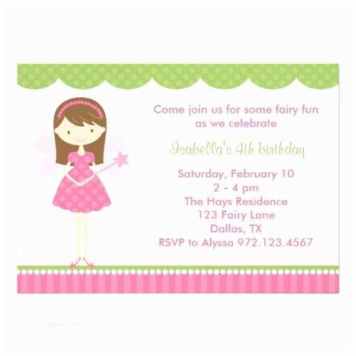 "Fairy Birthday S Pink Fairy Birthday Party S 5"" X 7"""