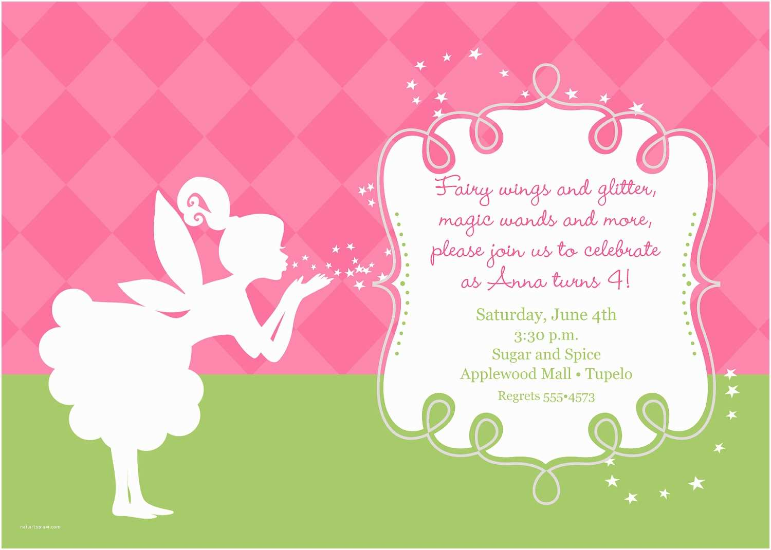 Fairy Birthday Invitations Pixies and Fairy Wings Birthday Invitation Printable