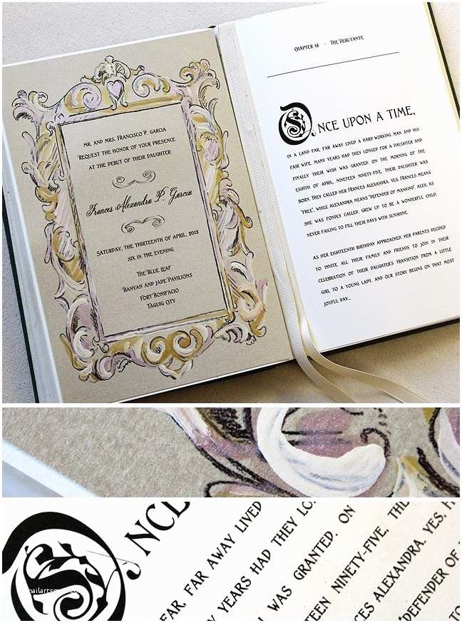 Fairy Tale Wedding Invitations 17 Best Ideas About Book Wedding Invitations On Pinterest