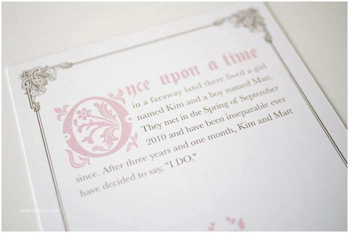 Fairy Tale Wedding Invitations Ce Upon A Time Fairy Tale Wedding Invitation by 3eggsdesign