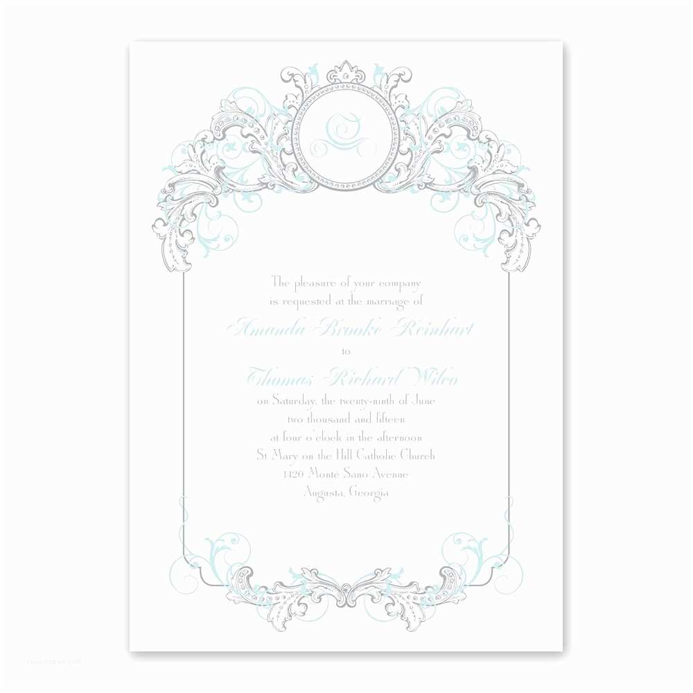 Fairy Tale Wedding Invitations Disney Fairy Tale Filigree Invitation