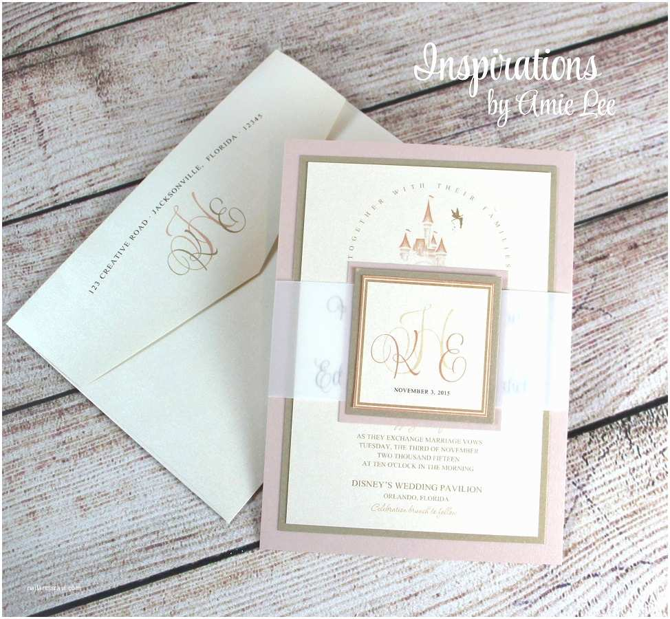 Fairy Tale Wedding Invitations Disney Wedding Invitations Fairy Tale Wedding