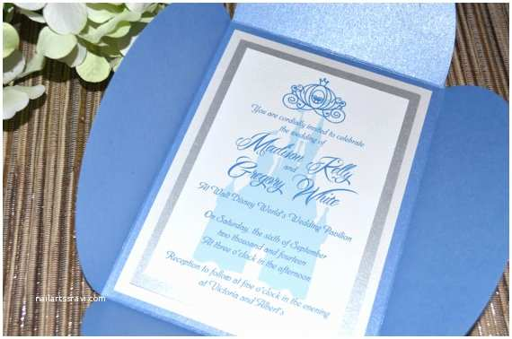 Fairy Tale Wedding Invitations Fairy Tale Wedding Invitations Cinderella Petal Fold