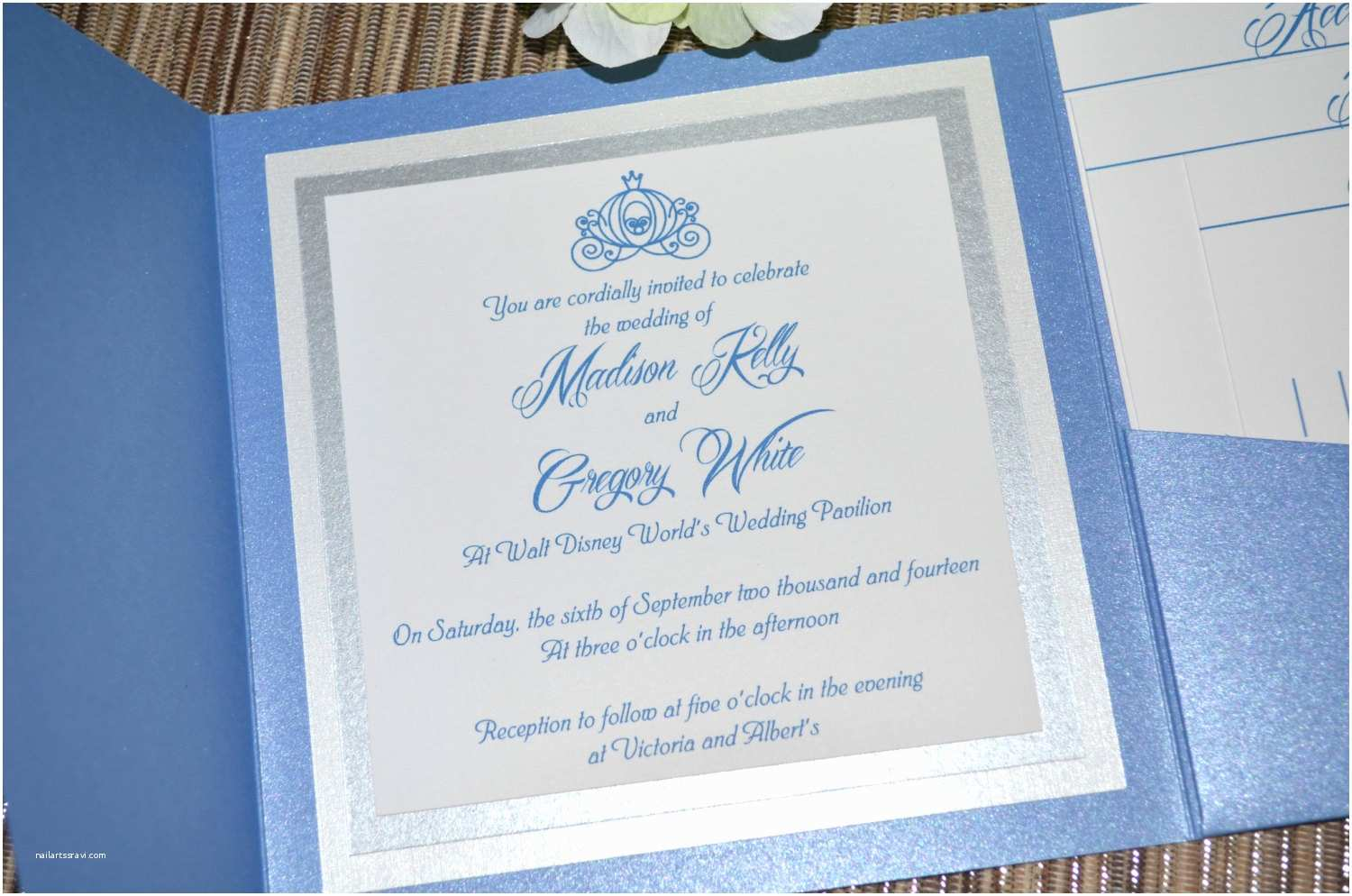 Fairy Tale Wedding Invitations Fairy Tale Wedding Invitations Cinderella Pocket Fold