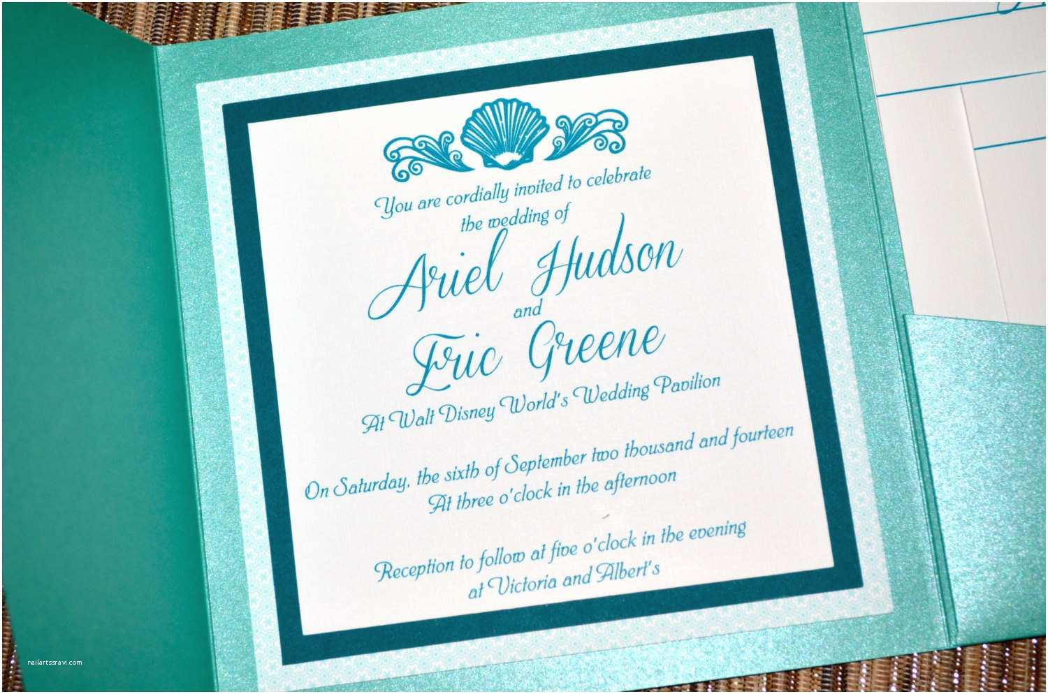Fairy Tale Wedding Invitations Fairy Tale Wedding Invitations the Little Mermaid Pocket