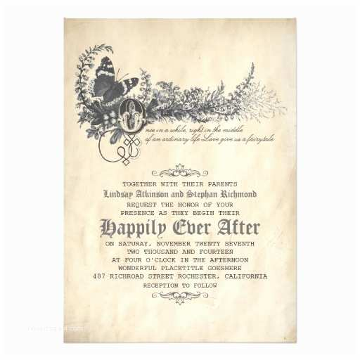 Fairy Tale Wedding Invitations Fairytale Wedding Invitation