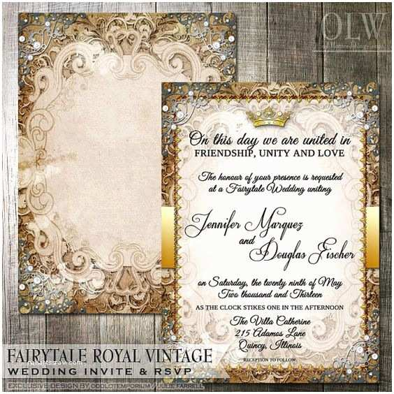 Fairy Tale Wedding Invitations Fairytale Wedding Invitation Suite Romantic Wedding