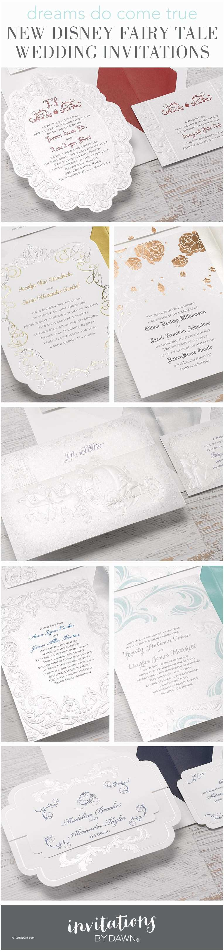 Fairy Tale Wedding Invitations New Disney Fairy Tale Wedding Invitations