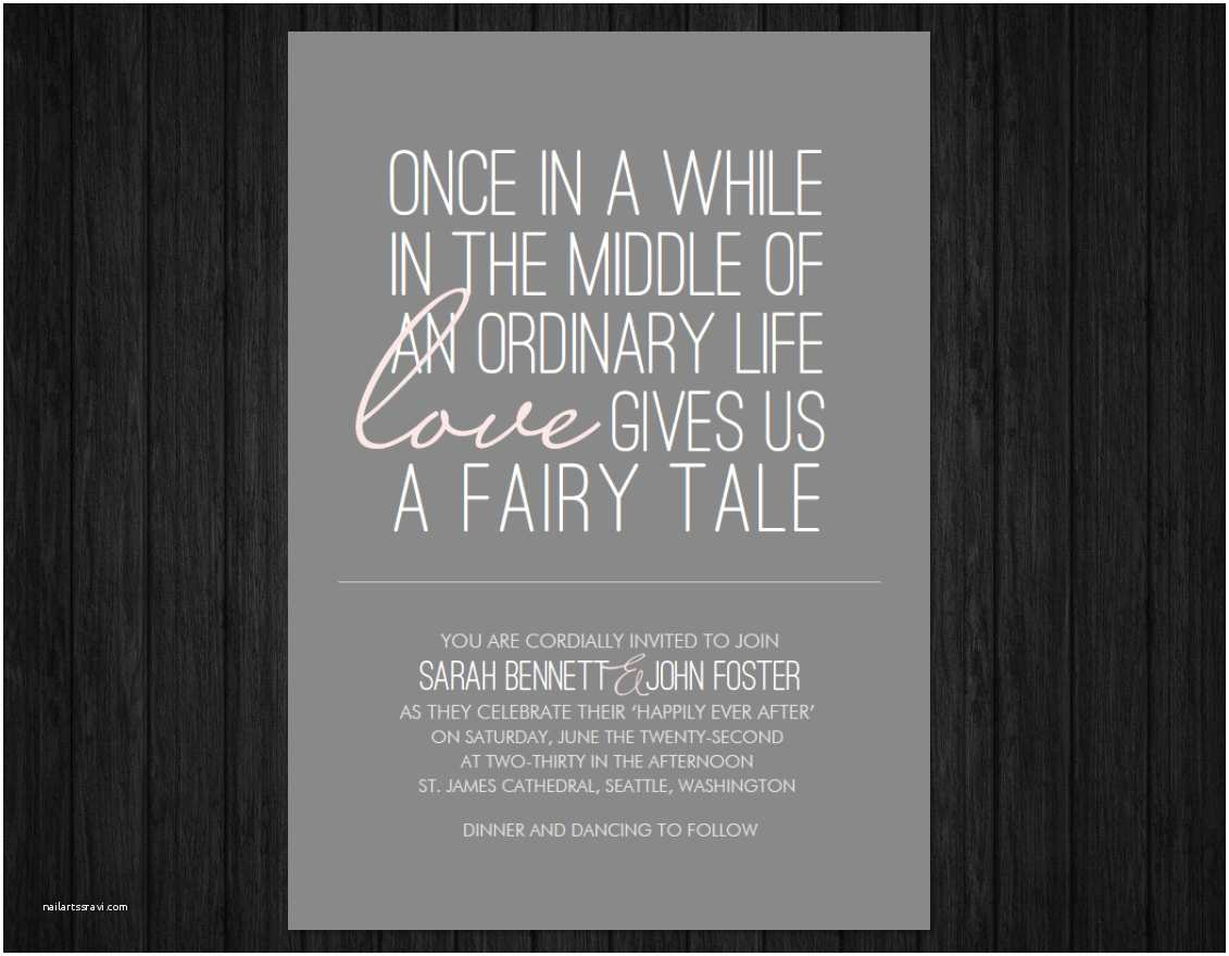 Fairy Tale Wedding Invitations Printable Fairy Tale Wedding Invitation Suite Rsvp & by