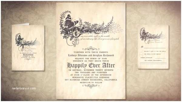 Fairy Tale Wedding Invitations Vintage Wedding