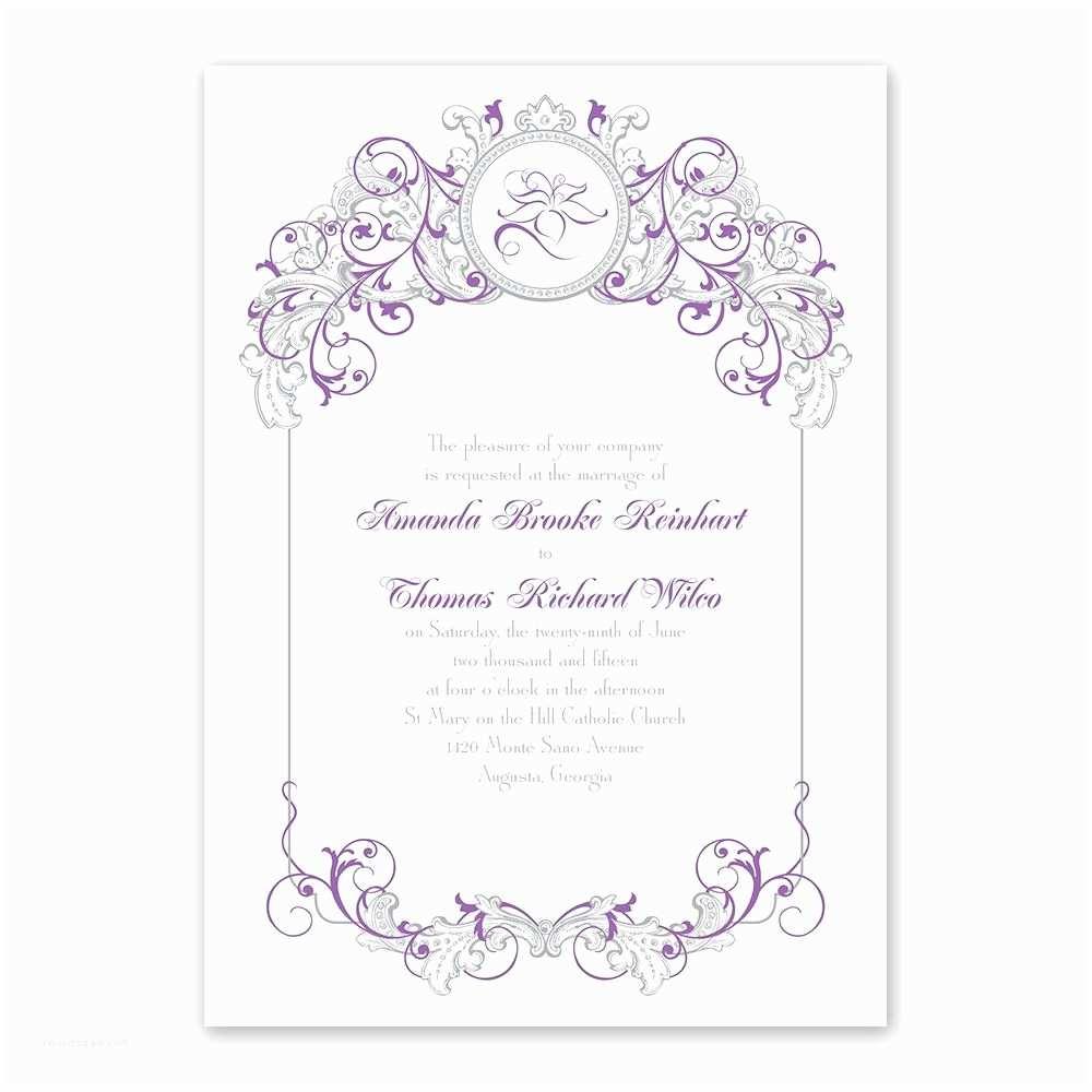 Fairytale Wedding Invitations Disney Fairy Tale Filigree Invitation