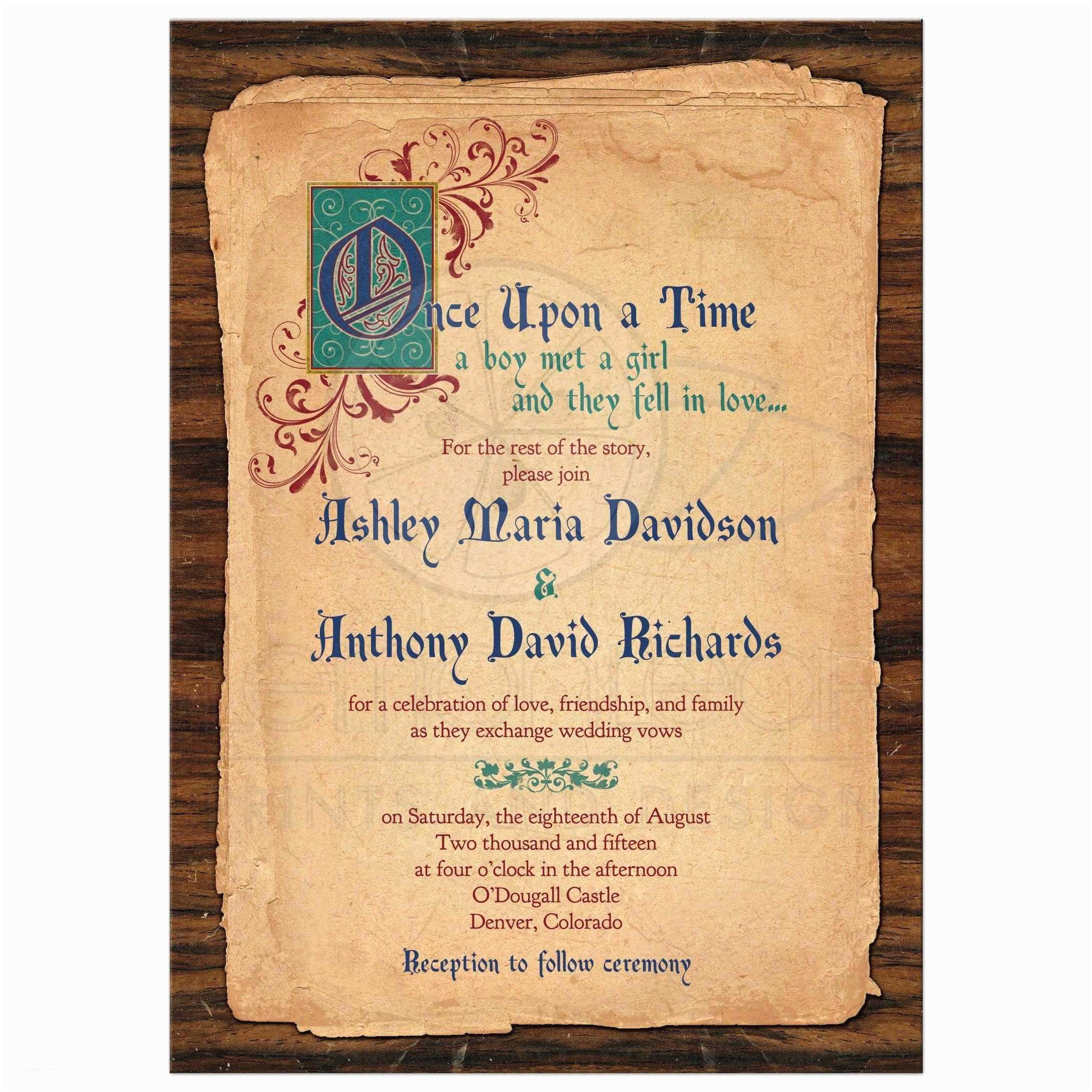 Fairytale Wedding Invitations Fairy Tale Wedding Invitation Me Val Ce Upon A Time
