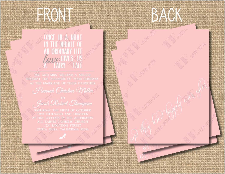 Fairytale Wedding Invitations Fairy Tale Wedding Invitation Package