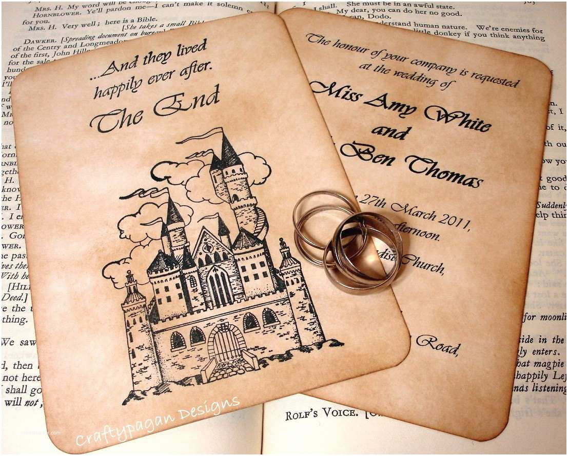 Fairytale Wedding Invitations Fairytale Wedding Invitation and Rsvp Card with Envelopes and