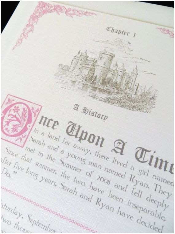 Fairytale Wedding Invitations Fairytale Wedding Invitation Packet by Abbieleedesigns On