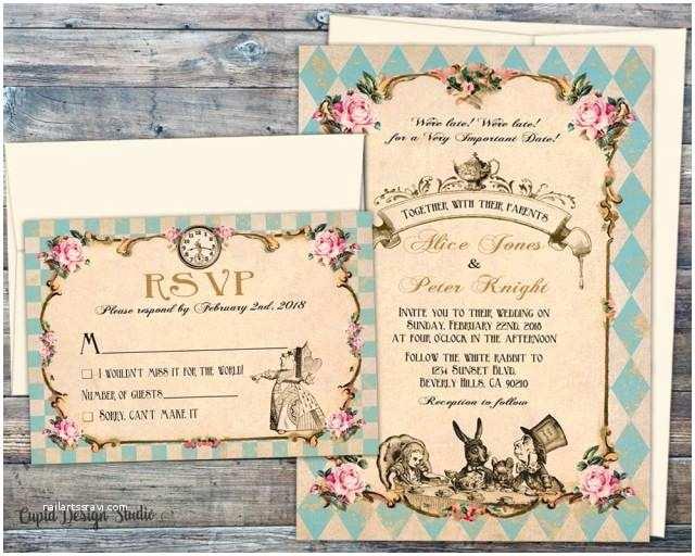 Fairytale Wedding Invitations Fairytale Wedding Invitations Wedding Invitations Alice