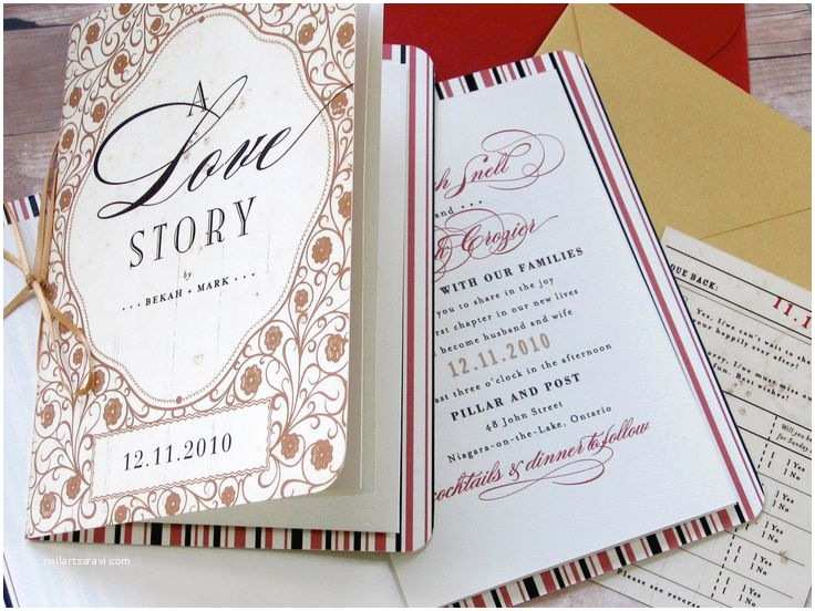 Fairytale Wedding Invitations Storybook Fairy Tale Happily Ever after Library themed