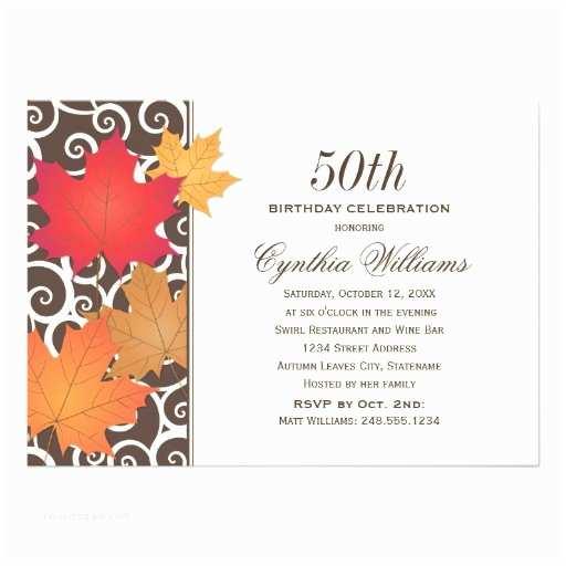 Fall Birthday Invitations Birthday Party Invitation