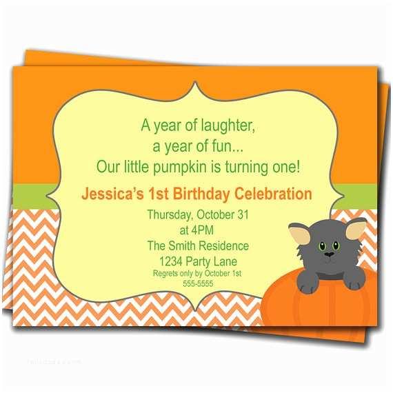 Fall Birthday Invitations Fall Autumn Birthday Party Invitation 1st by Purplechicklet