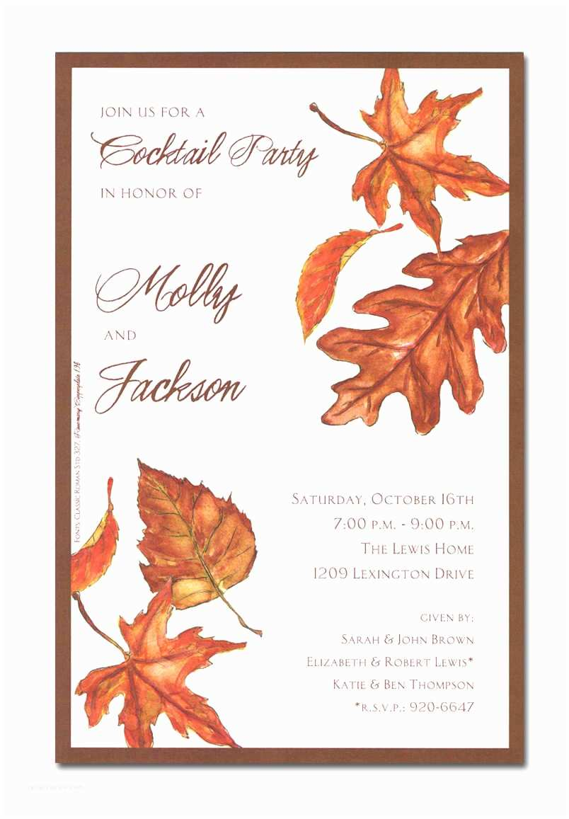 Fall Birthday Invitations Fall Invitations