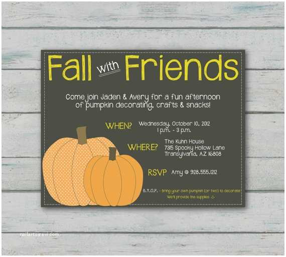 Fall Birthday Invitations Fall Party Invitation