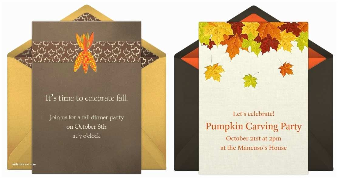 Fall Birthday Invitations Fall Party Invitations for All Kinds Of Party Planning