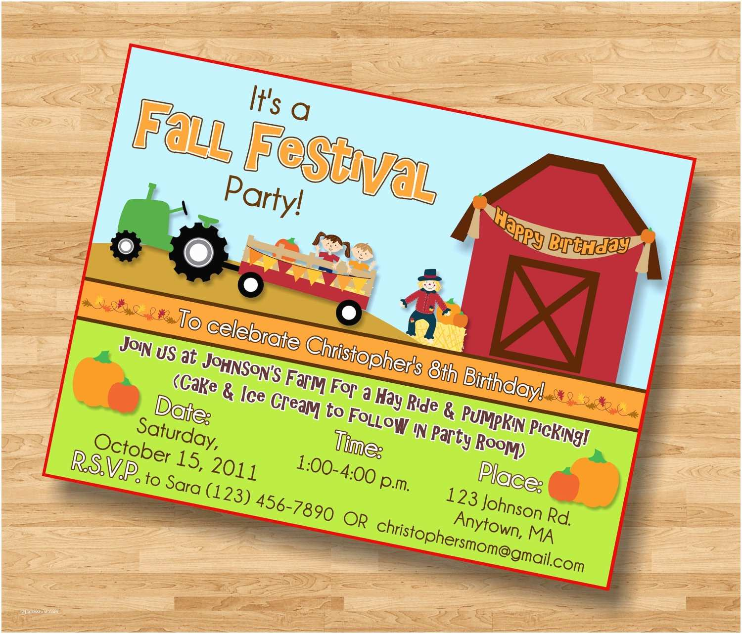 fall party invitations