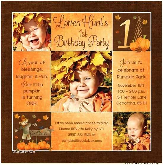 Fall Birthday Invitations Fall Pumpkin Birthday Invitation Scarecrow Party
