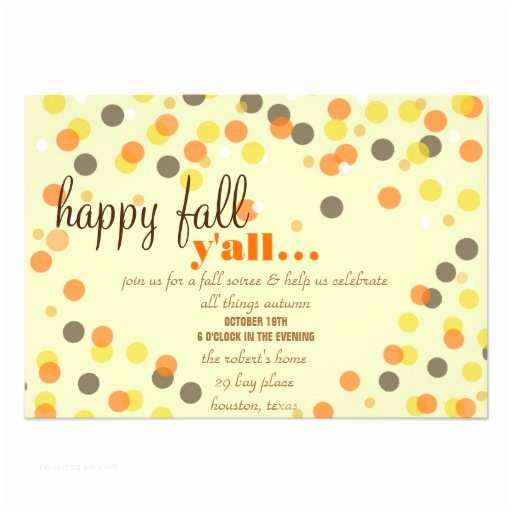 Fall Birthday Invitations Fall themed Party Invitation