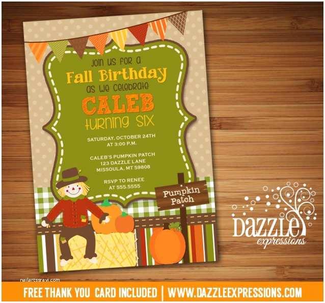 Fall Birthday Invitations Printable Kids Fall Birthday Invitation Pumpkin Patch