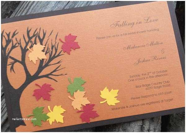 Fall Bridal Shower Invitations Bridal Shower Invitations Easyday