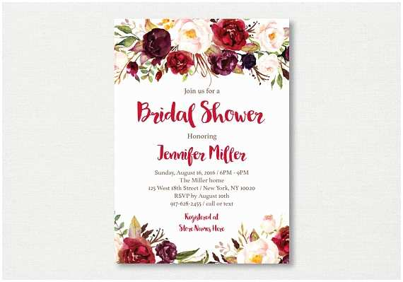 fall floral bridal shower invitation floral 2