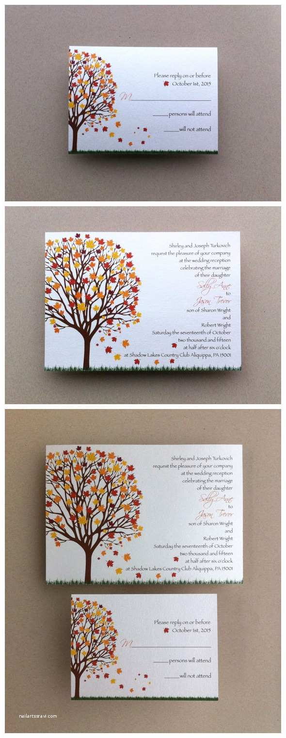 Fall Color Wedding Invitations Amazing Colors for Fall Wedding Invitations