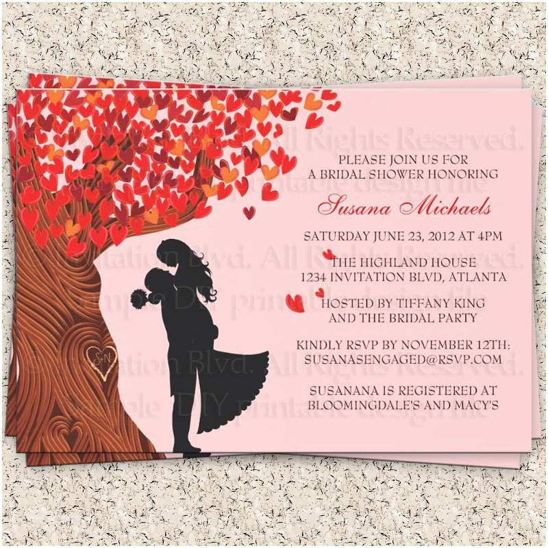 Fall In Love Wedding Invitations Fall In Love – Bridal Shower – Couple's Shower