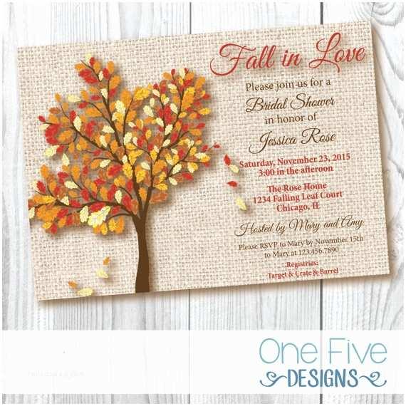 Fall In Love Wedding Invitations Fall In Love Bridal Shower Invitation Burlap Printable