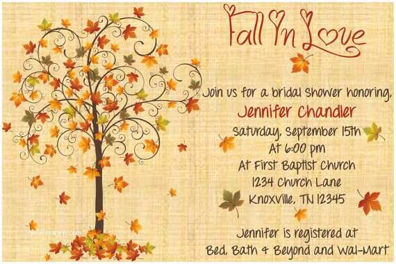 Fall In Love Wedding Invitations Fall In Love Bridal Shower Invitation by Whateveris On Etsy