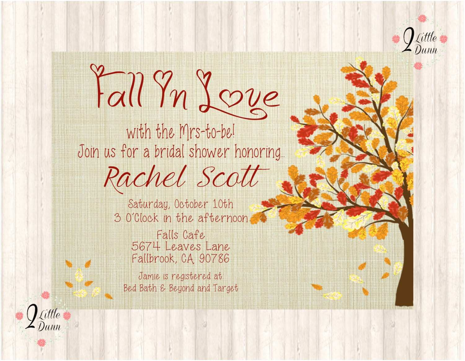 Fall In Love Wedding Invitations Fall In Love Bridal Shower Invitation Printable Digital