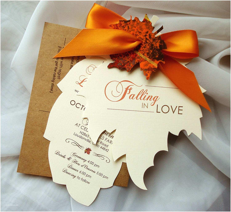 Fall In Love Wedding Invitations Fall Wedding Invitations Autumn Wedding Invitations Leaf